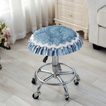 四季加厚小圆垫凳垫凳子坐垫圆形座垫毛绒板凳圆形座椅垫圆凳椅垫1 韩
