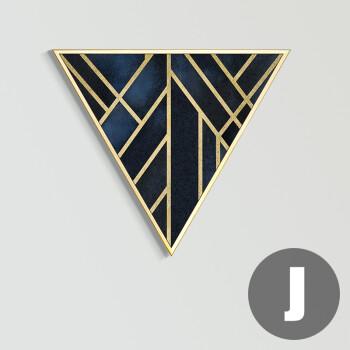 现代简约抽象装饰画 三角形创意个性轻奢挂画 北欧客厅背景墙壁画 j款图片