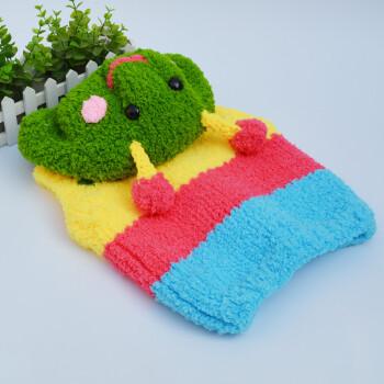 宝宝线马甲材料包diy手工编织珊瑚绒毛线儿童棒针毛衣