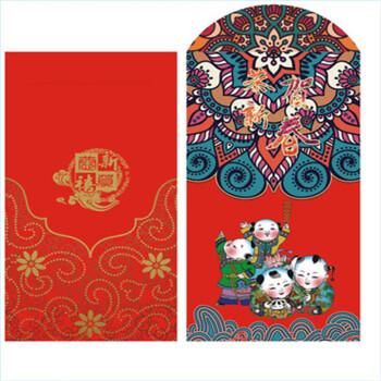 hong kong新年创意复古年画红包个性创意利是封千元红包高档喜庆 一包