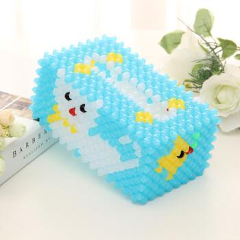 手工串珠diy纸巾盒材料包家居办公摆件抽纸盒新品散珠