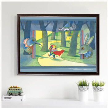 居梦坞漫画卧室几米客厅畸形装饰画有框画现恐怖插画|爱人的漫画图片