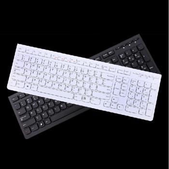 Lenovo/联想巧克力超薄有线台式机电脑笔记本外接键盘K5819 USB原装正品 黑色