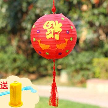 萌碎 新年挂饰儿童手工春节diy制作福春灯笼材料包幼儿园创意粘贴含灯