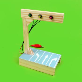 科普diy科技小制作 手工红绿灯拼装材料 限时抢购 材料包(含胶) 2节