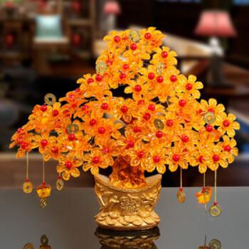 倾阑 手工制作材料包成人 客厅摆件饰品diy招财树编织