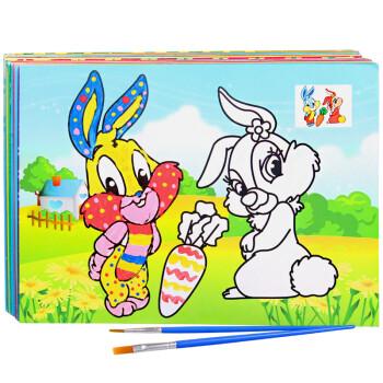 画画套装颜料水粉画填色画宝宝涂色手工制作 (共60画20排颜料20笔)