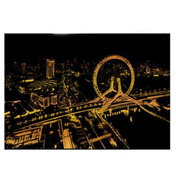 都市系列城市夜景刮刮画 世界各地风景刮画 创意摆件生日礼物送男生女