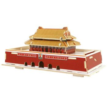 立体拼图木质世界名建筑手工拼装模型儿童玩具生日礼物 北京天安门