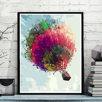 冰鹿风景花卉动物人物手绘油彩填色装饰画炫光鹿 棉画布,高亮丙烯颜料
