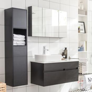 洛凌北欧风格简约现代浴室柜组合洗脸盆洗手盆卫生间洗漱台卫浴柜台盆图片