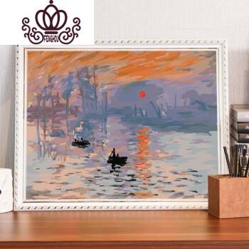diy数字油画风景客厅世界名画梵高星空手工填色画手绘