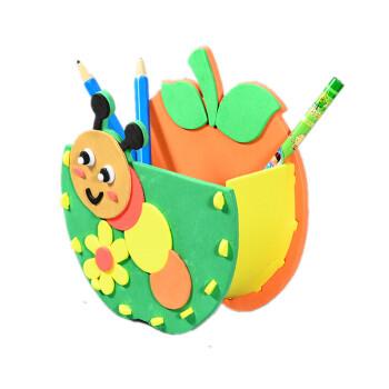 eva贴画diy创意笔筒手工制作材料包幼儿园子活动玩具 创意笔筒 虫虫