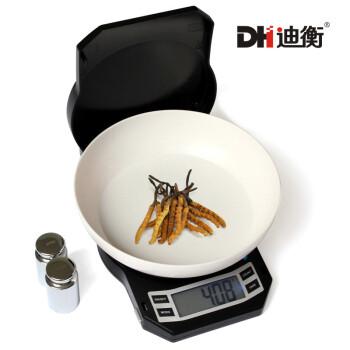 迪衡(DH)插电高精度珠宝秤燕窝秤精准电子秤食品秤家用厨房秤烘焙秤茶叶秤食物称 LB500g/0.01+法码+电源