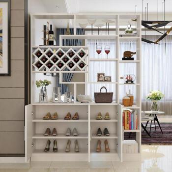 客厅家具 鞋柜 yandex 隔断酒柜玄关小户型简易复古门口美式北欧防尘图片