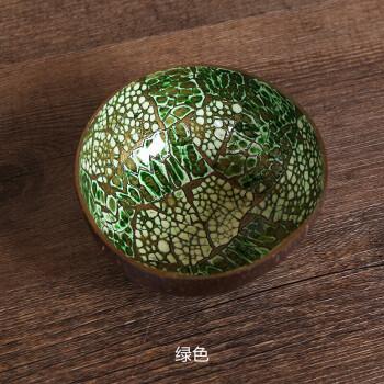 家装软饰 装饰摆件 正画 椰子壳碗 中式创意手绘彩色装饰品糖果碗