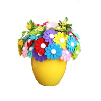 纽扣花束手工 母亲节儿童幼儿园扣子画作品 雨蝶花材料包