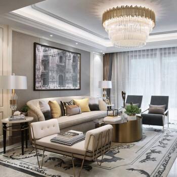 简约后现代布艺沙发样板房间小户型港式轻奢家具法式风格沙发 定制
