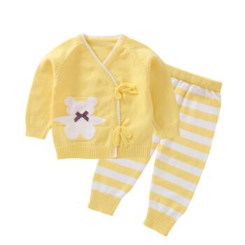 婴幼儿毛衣开衫秋冬婴儿毛衣套装女男宝宝衣服外套外出服新生儿编织