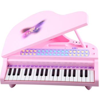 贝芬乐电子琴带麦克风电源mp3多功能音乐玩具三角图片