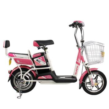 新日电动车自行车 新款清爽 单双人电动自行车车 男女式迷你电瓶车 图片