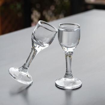 无铅玻璃小酒杯一口杯家用白酒酒杯12只装白酒杯套装中式小高脚杯图片