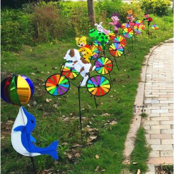 农场3d立体风车动物骑车布艺风车地摊传统儿童玩具 动物平均发