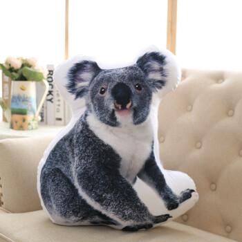 小清新冬日动物抱枕可爱萌宠仿真3d狗狐狸兔子沙发靠垫定制批发 考拉