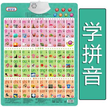 学汉语拼音声母韵母整体认读音节表有声挂图全套一年级发声字母表图片