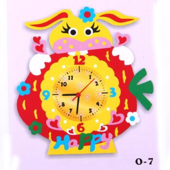 儿童手工diy玩具eva立体时钟钟表创意制作材料包子早教幼儿园 o-7