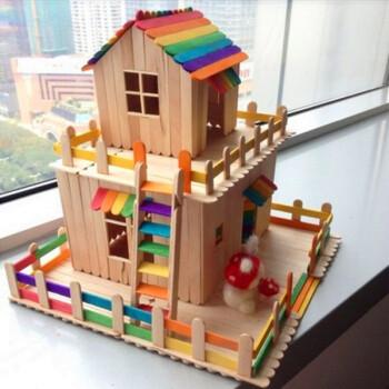 畅印 雪糕棒木棒木条diy手工制作房子模型材料冰棒棍木棍棒雪糕棍.