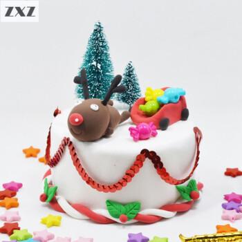 圣诞节彩泥粘土儿童手工制作材料包套装儿童手工制作玩具 圣诞麋鹿