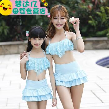 裙式比基尼小女孩儿童泳衣中大儿童可爱泳装子装5-8-10岁13 黄色 xxl