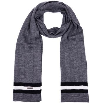 巴利男士灰色羊毛针织围巾
