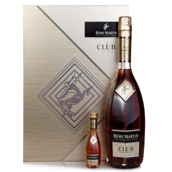 人头马(rémy martin)洋酒 club优质香槟区干邑白兰地 700ml 新版礼盒