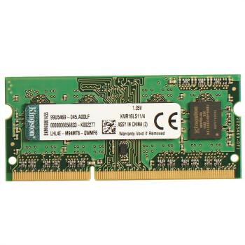 金士顿 Kingston 低电压版 DDR3 1600 4GB 笔记本内存 103元