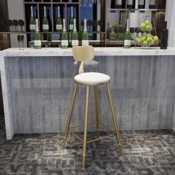 峰发北欧实木靠墙吧台桌椅组合家用酒吧台咖啡厅桌椅高脚桌小水吧台凳图片