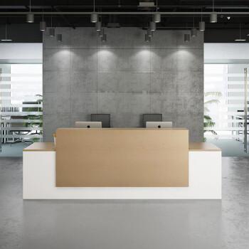 前台接待台迎宾台收银台柜台简约现代公司咨询台吧台办公前台 4000*