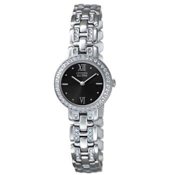 西铁城(CITIZEN)手表 光动能不锈钢表带女表EW9145-55E