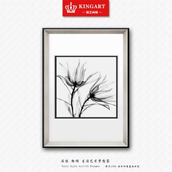 家居饰品玄关三联画框现代简约黑白装饰画 A款单联价格 40 60图片