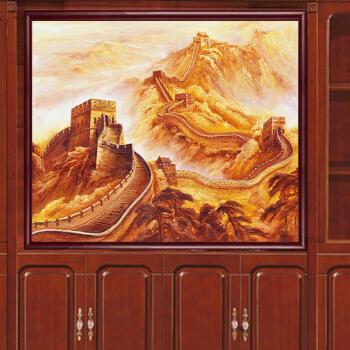 风景长城挂画油画会所万里长城靠山家居现代风景画中堂八尺酒店壁画