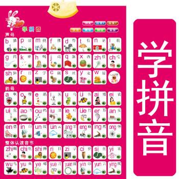 表26个英文有声挂图发音拼音声母韵母整体认读音节一年级发声字母表图片