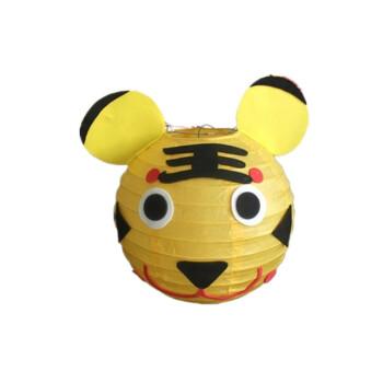 卡通纸灯笼节日手工灯笼可爱小动物贴纸 小老虎