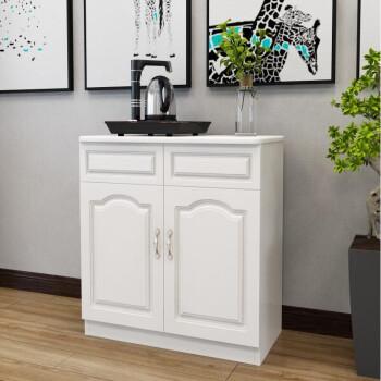 欧式茶水台餐边柜简约现代办公室茶柜组装小柜子客厅茶桌收纳家用
