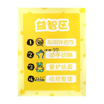 幼儿园区域规则进区牌卡布置约定标识区角标志活动区域牌儿童分类 区