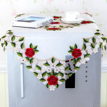 一朵布艺蕾丝高档冰箱罩冰箱防尘罩冰箱盖巾冰