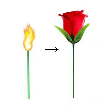 火把变玫瑰魔术 火把玫瑰带专用油花火直播空出玫瑰舞台近景表演泡妞