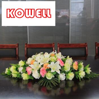 室装饰花卉会议桌仿真花前台摆花假花餐桌酒店签约花 c款80cm椭圆形