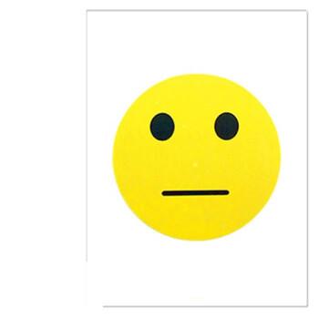 可爱大号笑脸贴纸 卡通脸贴表情活动道具奖励惩罚 不干胶装饰贴 办公图片