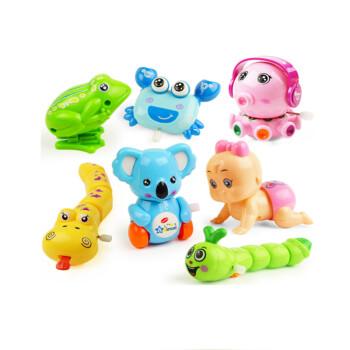 会跑有特技的小动物发条玩具套装婴儿童宝宝上链玩具1-2-3岁 娃 跳蛙